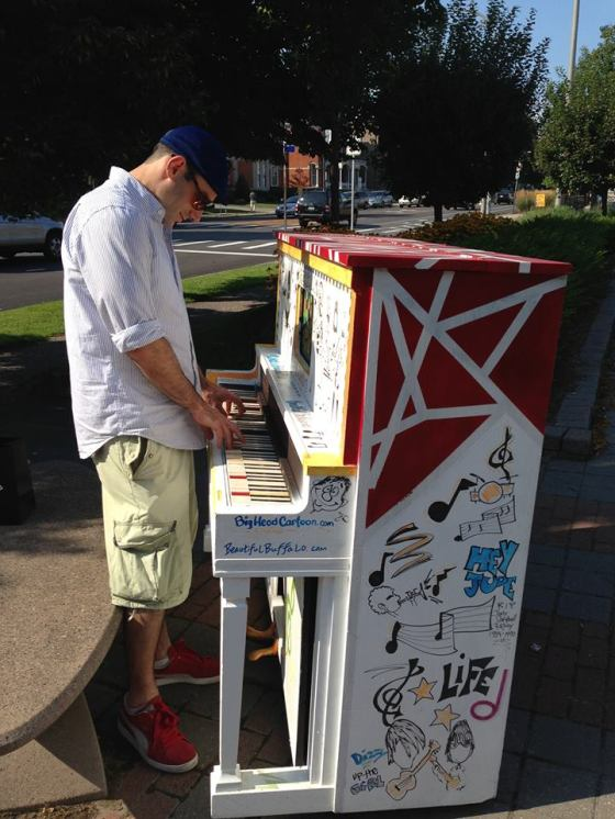 The Breakerbox piano gets played on Delaware Avenue in the City of Buffalo!