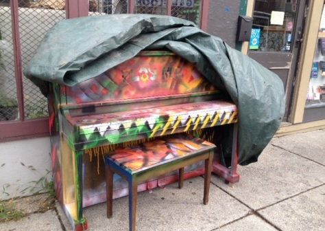 This piano mysteriously appeared on Grant Street in Buffalo on August 31st. Who put it there?