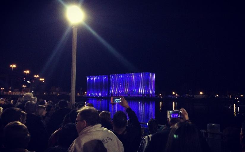Buffalo NY grain elevators lightshow